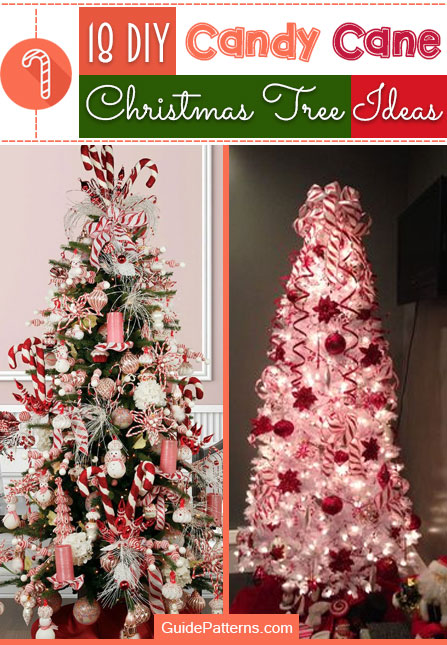 18 DIY Candy Cane Christmas Tree Ideas | Guide Patter