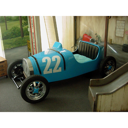 Vintage Race Car Bed and Luxury Kid Furnishings Including Armoires .