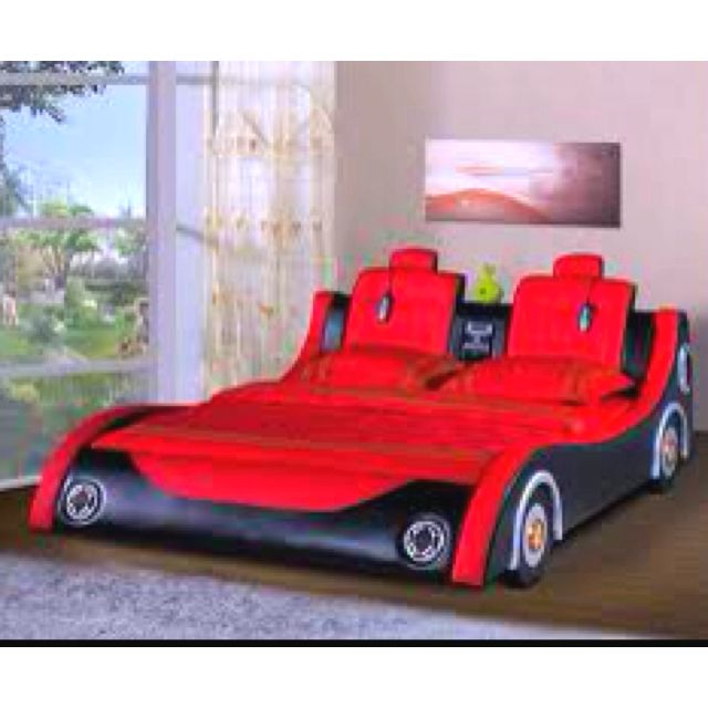 Adult race car bed, yes! | Race car bed, Kids car bed, Car b