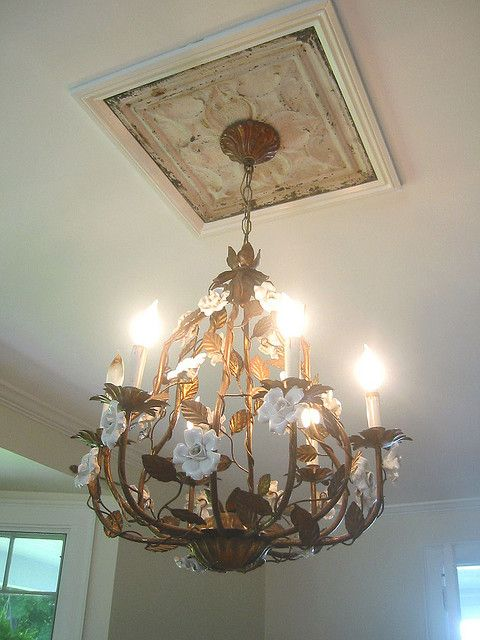 It's up ~ | Rustic ceiling medallions, Tin ceiling, Ceiling medallio