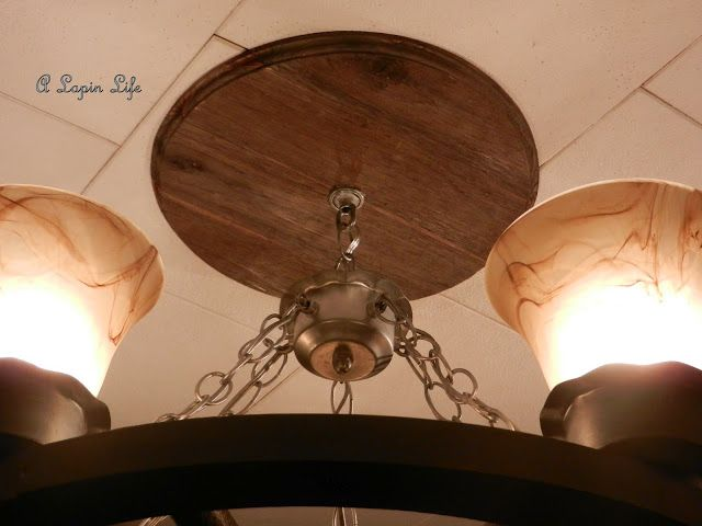 Barn-Wood Ceiling Medallion...You Can Make One Too! | Ceiling .