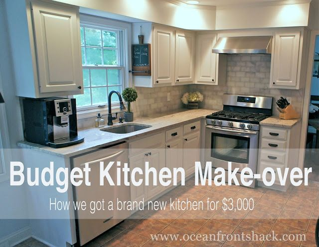 Great tips for doing a major kitchen renovation on the cheap .