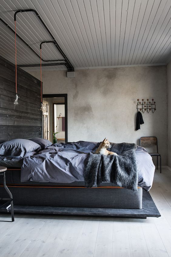 25 Stylish Industrial Bedroom Design Ideas | Industrial style .