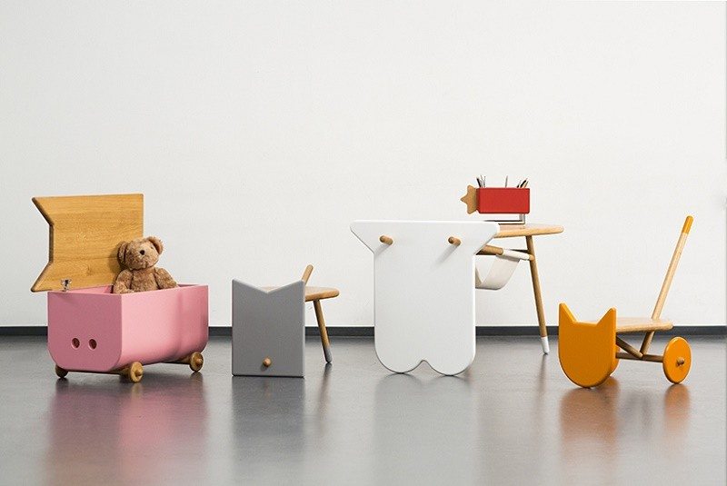 Avila - creative children's furniture with shapes inspired by pets .
