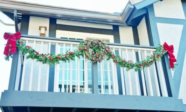 Picture Of cozy and inspiring christmas balcony decor ideas