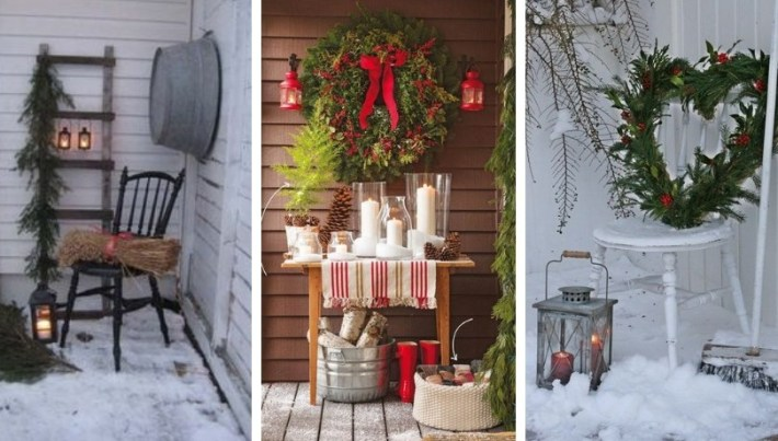 Amazing ideas for decorating balconies at Christmas | My desired ho