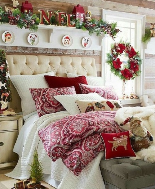 How to decorate Bedroom for Christmas | Home Decor Bu