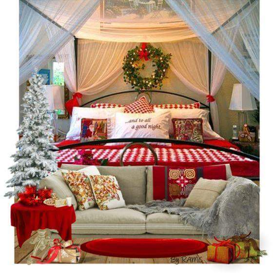 45+ Peppy Christmas Bedroom Decoration Ideas That Echo the Festive .