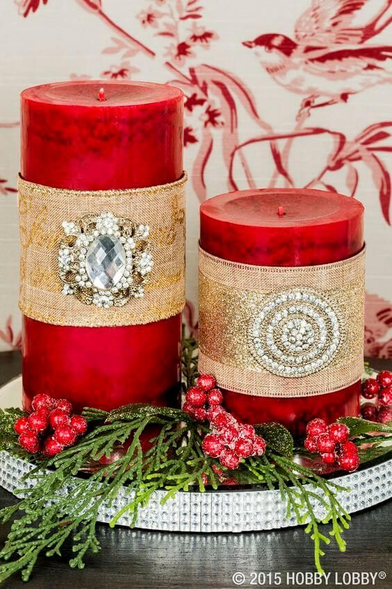 Christmas Candle Decoration Ideas For 2019 | Christmas candle .