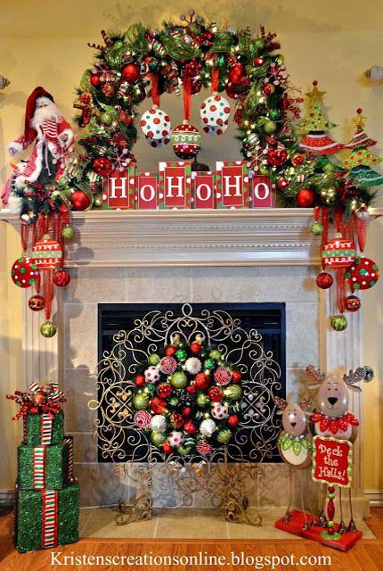 50 Most Beautiful Christmas Fireplace Decorating Ideas - Christmas .