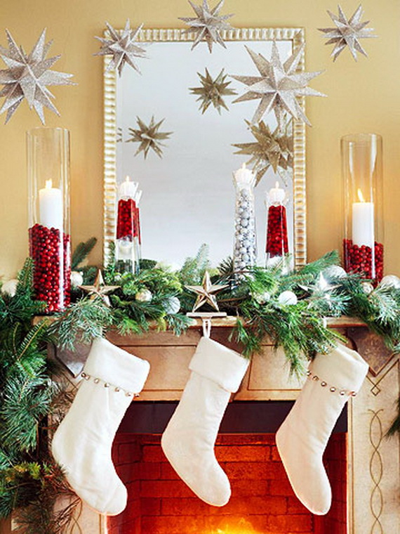 Gorgeous Fireplace Mantel Christmas Decoration Ideas | family .