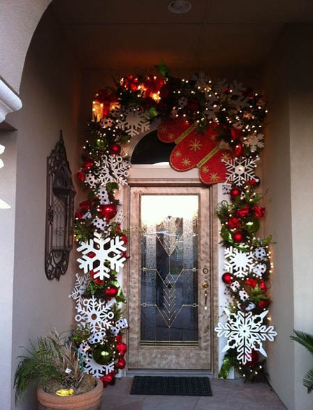 Wonderful Christmas Front Door Decorations Ideas – All About Christm