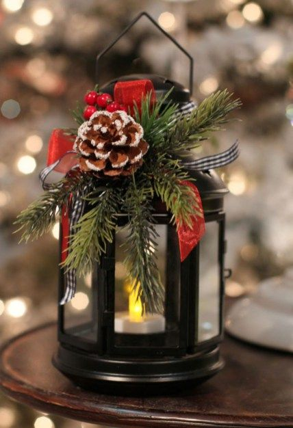 Ideas how decorate christmas lanterns for indoors and outdoors 29 .