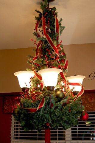 15 Christmas Decorating Ideas for Pendant Lights and Chandeliers .