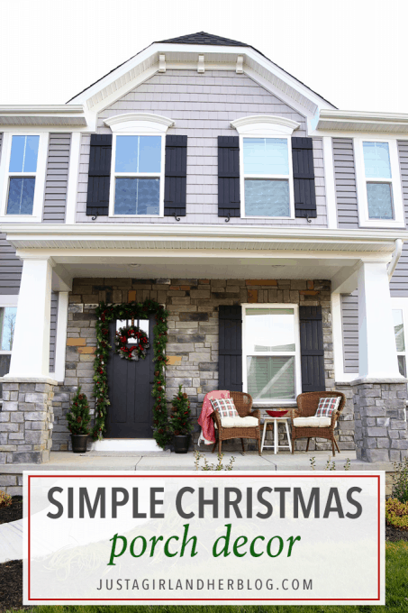 Our Simple Christmas Porch Decor | Abby Laws