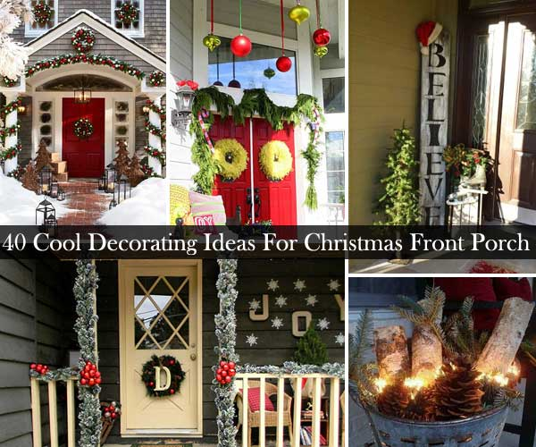 40 Cool DIY Decorating Ideas For Christmas Front Porch - Amazing .