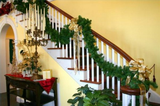 100 Awesome Christmas Stairs Decoration Ide