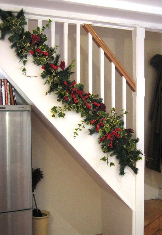 The Bottom of Christmas Banister Decorating Ideas View deck .