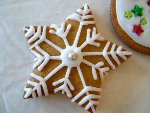 Christmas Star Cookie Decoration Ideas | Christmas sugar cookies .