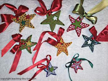 Toddler Activities: Salt Dough Christmas Star Ornamen