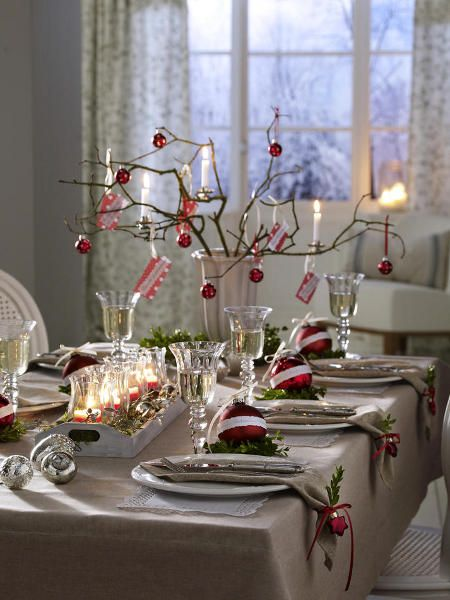 Ideas to decorate your Christmas dinner table | Christmas table .