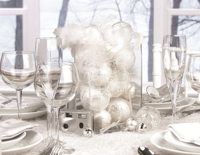 Christmas table decor: from natural to shiny - Viri