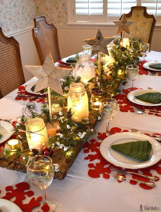 50 Christmas Table Decoration Ideas - Settings and Centerpieces .