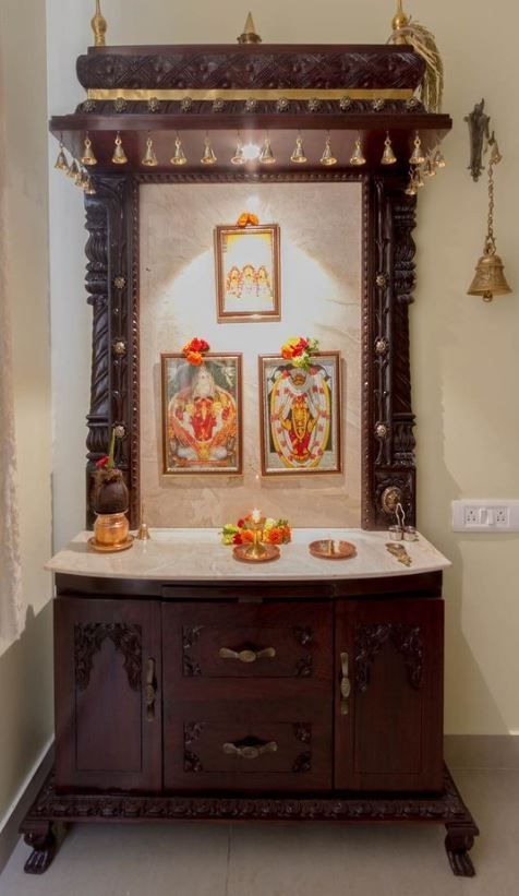 How to Ace-Up Mandir Design And Pooja Rooms | Temple design for .