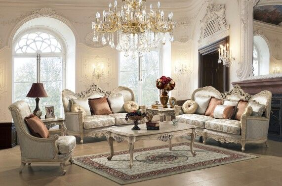 Victorian living room set by Homey designs | Victorian living room .