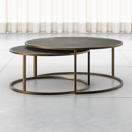 Keya Antique Brass Nesting Coffee Tables + Reviews | Crate and Barr