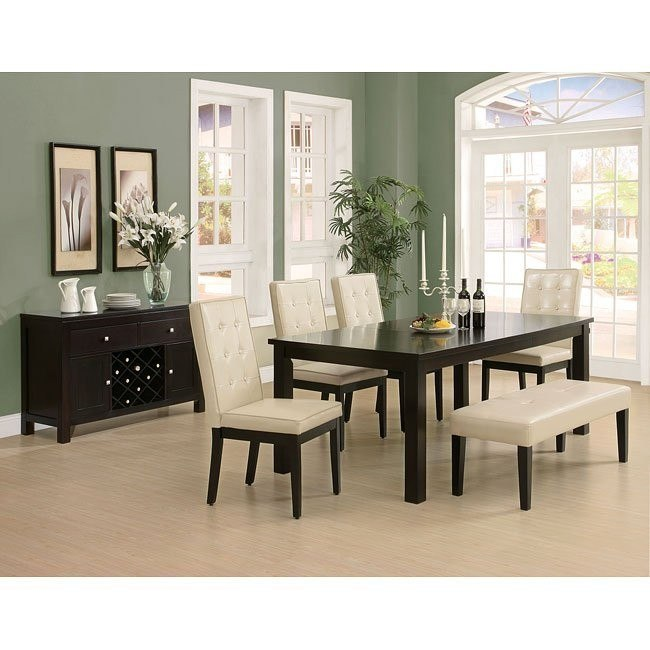 175 Series Rectangular Dining Room Set W/ 3 Chair Color Choices .