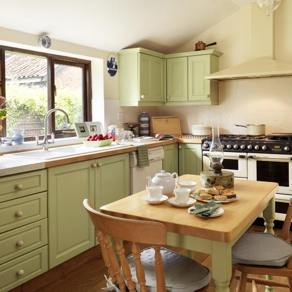 Oat Color Scheme with Green Pastels for Modern Kitchen Design and .