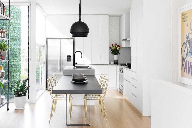 This Modern Kitchen Update Received Touches Of Black And Go