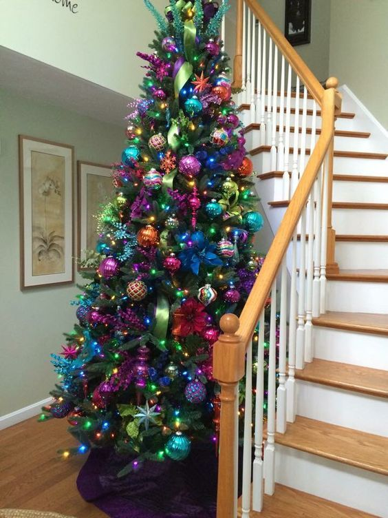23 Colorful Christmas Tree Décor Ideas | Cool christmas trees .
