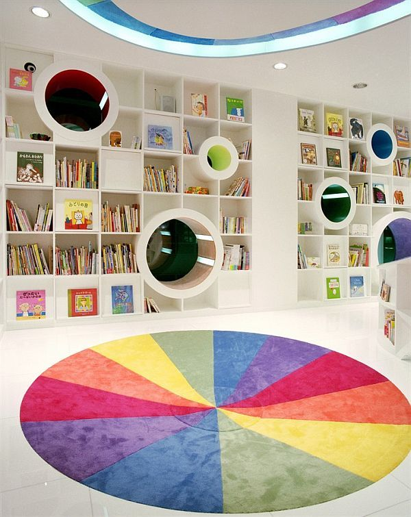 Colorful Poplar Library by Sako Architects | Childrens bookstore .