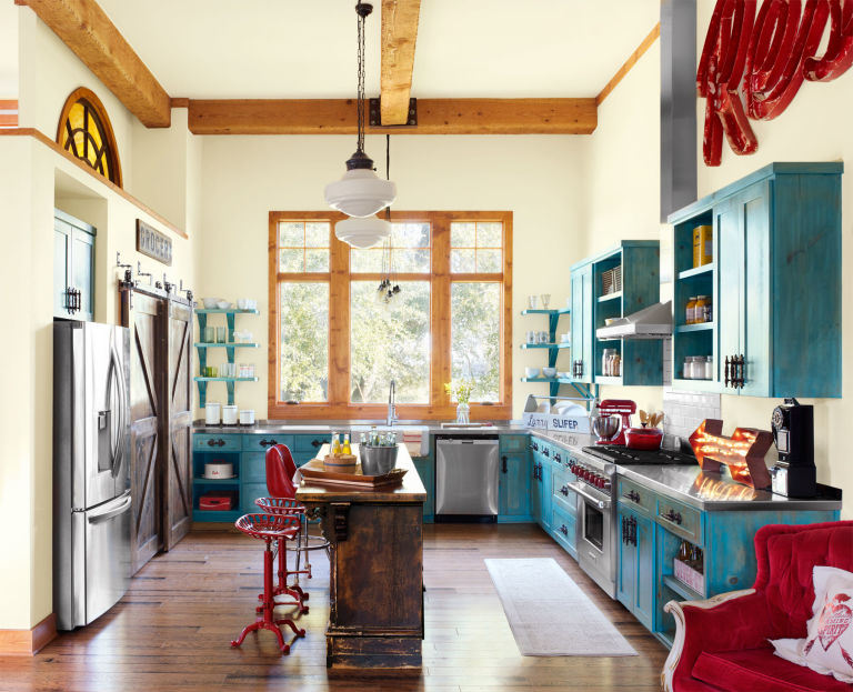 Colorful Vintage Style Kitchen