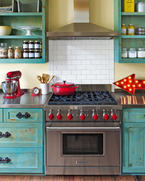 10 Ways to Add Colorful Style to Your Kitchen | Kitchen design .