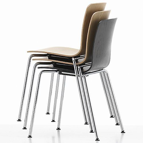The Vitra HAL Ply Tube Stacking Chair pairs the simple texture and .