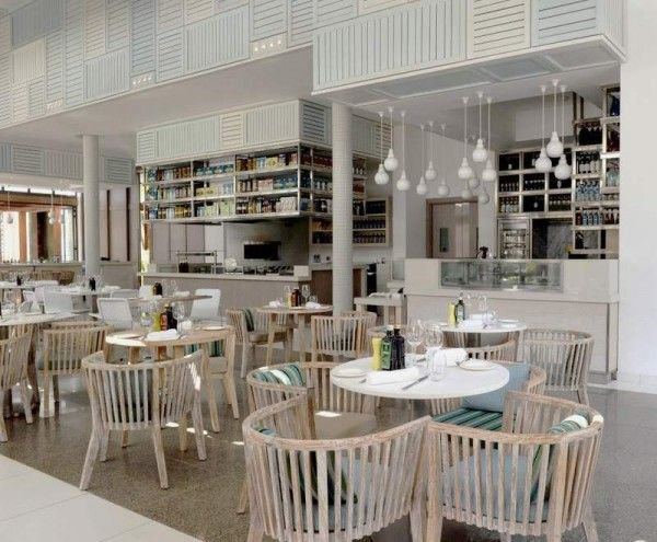 restaurant interior of Luxury and Contemporary Hotel Built with .