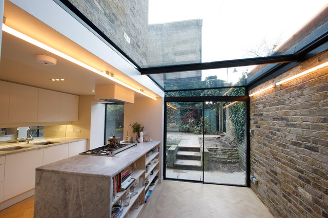 Side Infill Extensions - Contemporary - Kitchen - Buckinghamshire .