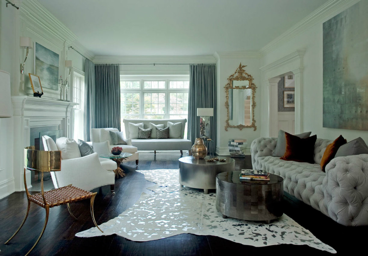 Living Room Ideas: Blend Modern Glamour With Classic Elegance .
