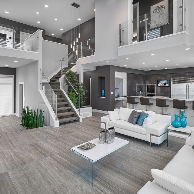 Vicky's Homes - Vittorio - Contemporary - Living Room - Edmonton .