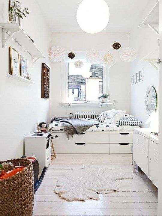 9 Totally Cool IKEA Hacks for a Kid Room | Platform bed with .