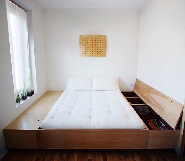 Storage Bed by Studio Junction-- totally useful to hide my mess .