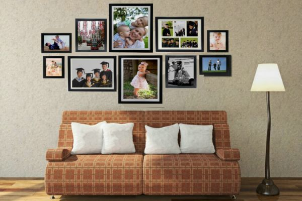 Photo Wall-Set of 10Frames | PremoFrame | Wall photo frame collage .