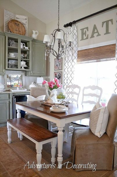 Dining room decor ideas - Country farmhouse style with painted .