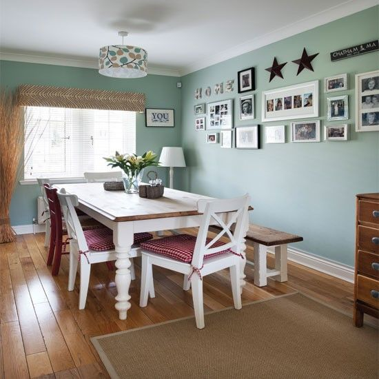 Pale green country dining room | Country dining rooms, Green .