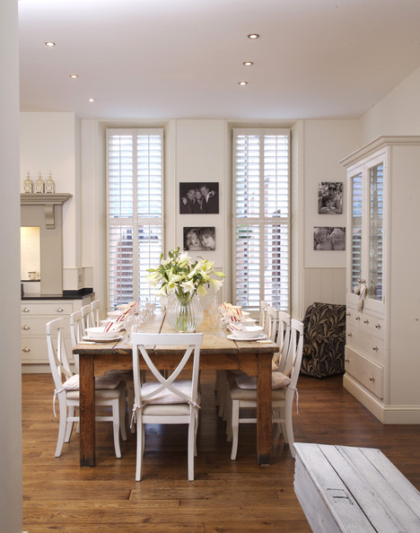 White Country Dining Room - Dining Room Decorating Ideas - Lon