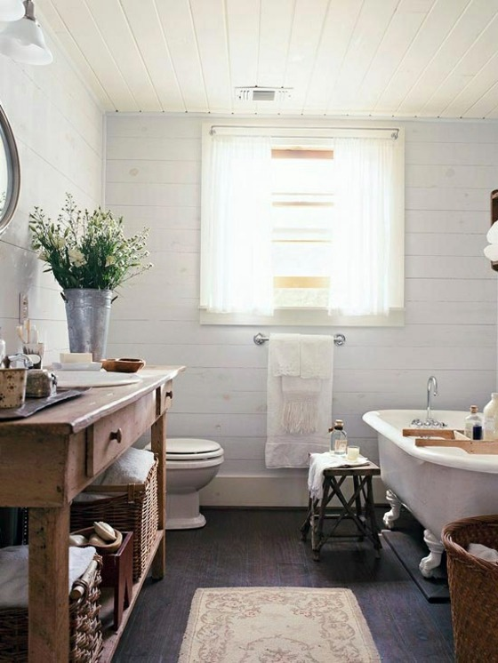 Rustic Bathroom Ideas – Would you set up your bathroom in a .