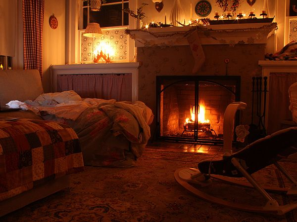 Fireside | Posie Gets Cozy #fireplace #livingroom #quilt | Cozy .
